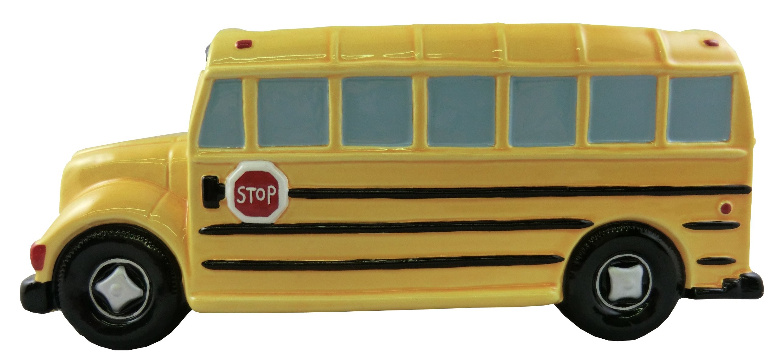 Accents & Occasions Ceramic School Bus Planter or Flower Arrangement Vase, 3-Inch
