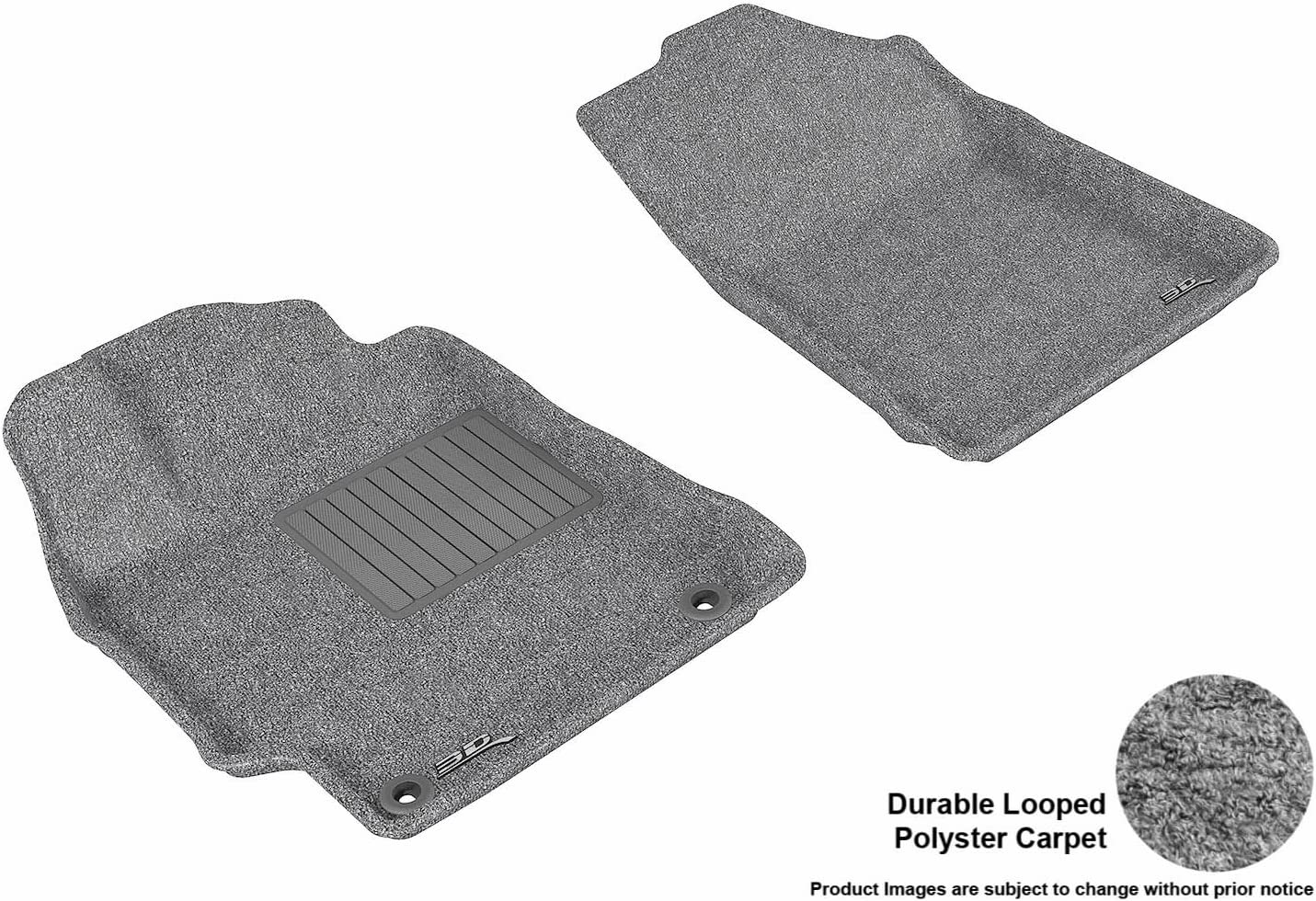Gray Classic Carpet 3D MAXpider Front Row Custom Fit All-Weather Floor Mat for Select Chevrolet Cobalt Models