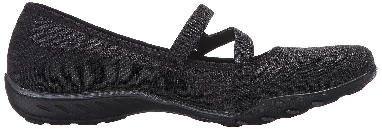 bc2d6cc447 Amazon.com | Skechers Sport Women's Breathe Easy Lucky Lady Mary Jane Flat,  Black Knit Mesh/Charcoal Trim, 7.5 M US | Flats