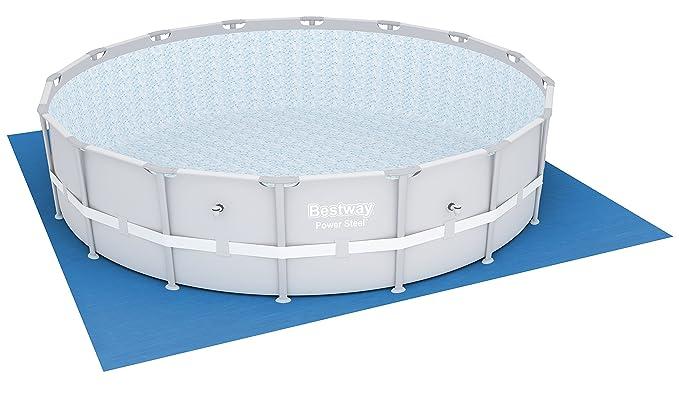 Bestway 58251 - Tela para el Suelo para Piscina Steel Pro de 488 cm: Amazon.es: Jardín