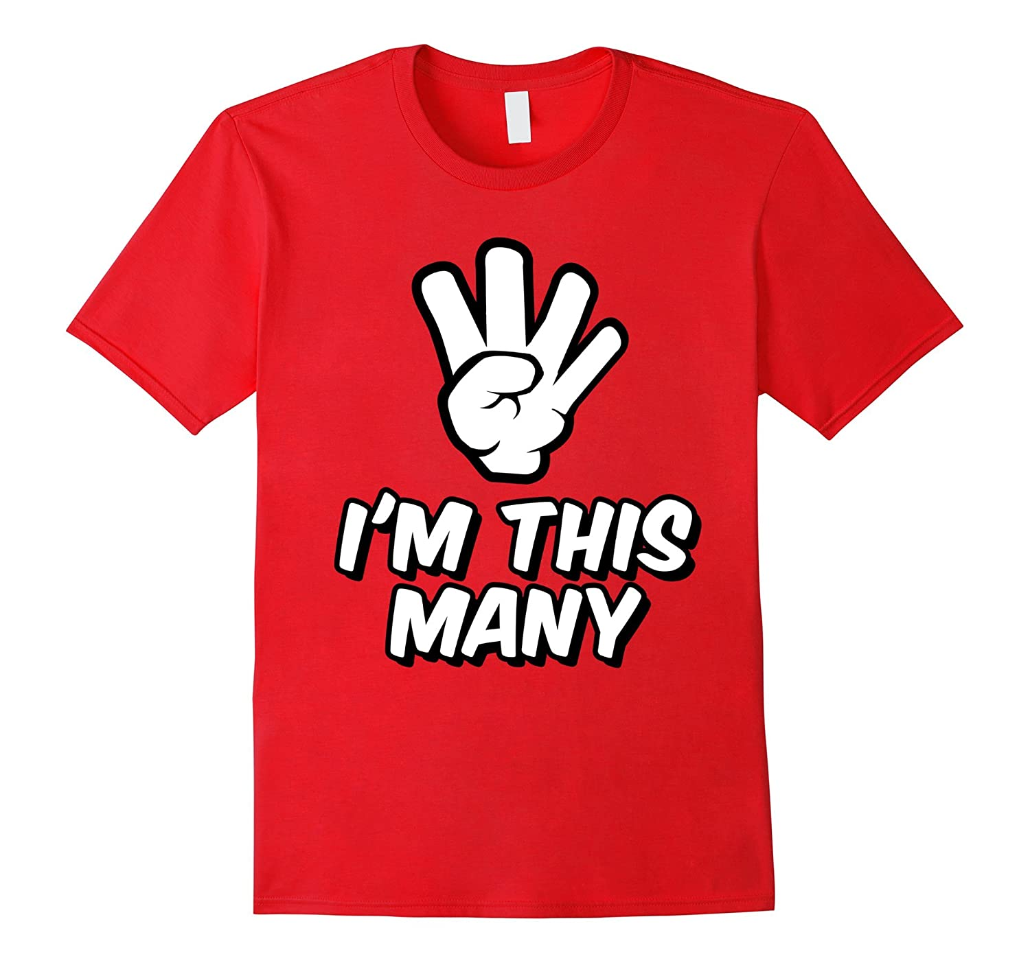 4 Year Old Birthday Tshirt - Funny I'm This Many Kids TShirt-FL