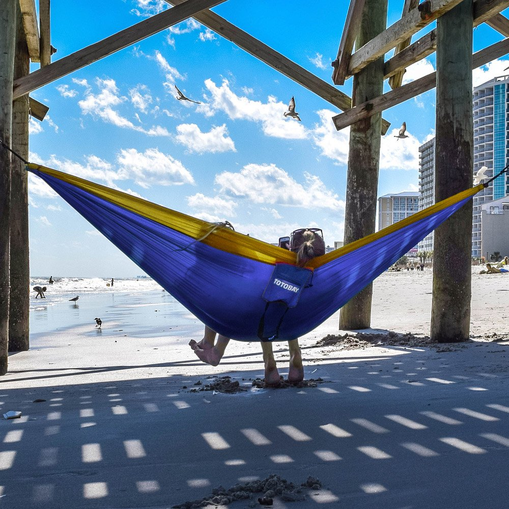 totobay Hammock Beach TOTOBAY Direct D-C1 Yard. Camping Hammocks with Friendly Tree Straps and Steel Carabiners- Eno Hanging Hammock for Travel 118 L x 78 W Yard. 118 L x 78 W Backpacking