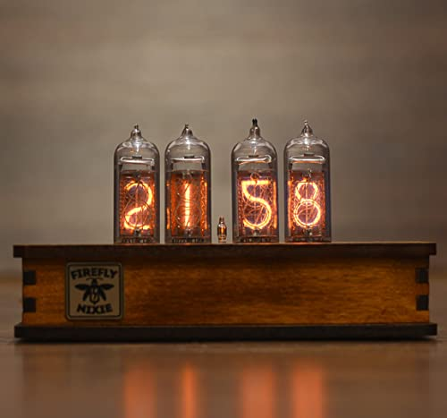 Nixie Tube Clock with New and Easy Replaceable IN-14 Nixie Tubes - Motion Sensor - Visual Effects - Gift Packaging