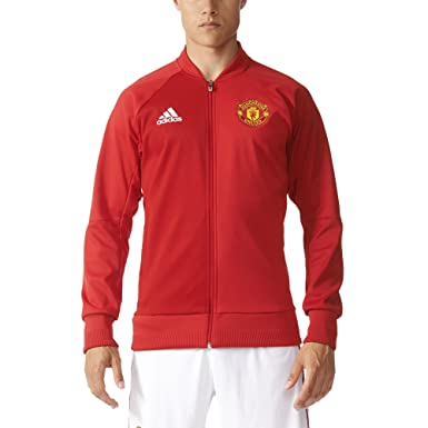 reputable site 4a1f4 e05eb Adidas Manchester United 16/17 Anthem Red Jacket: Amazon.ca ...