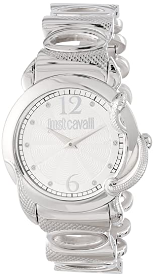 Just Cavalli R7253576503 - Reloj analógico para mujer de acero inoxidable Resistente al agua plata