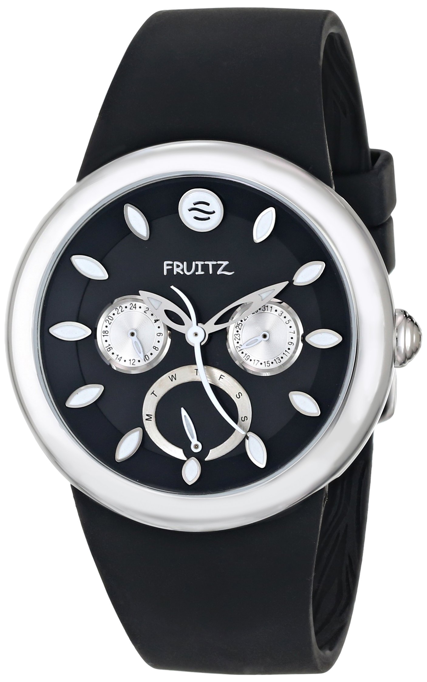 Fruitz by Philip Stein Unisex F43S-B-B Analog Display Japanese Quartz Black Watch by Fruitz by Philip Stein (Image #1)