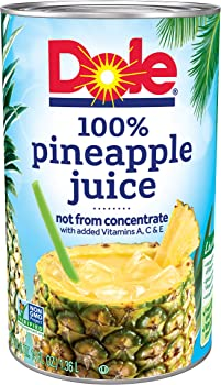Dole 6-Pack 100% Juice Pineapple 46 Ounce Cans