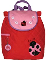 Stephen Joseph Little Girls'  Quilted Backpack Ladybug