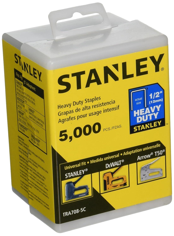 Stanley TRA708-5C 1/2-Inch Heavy Duty Staples, 5000 Units