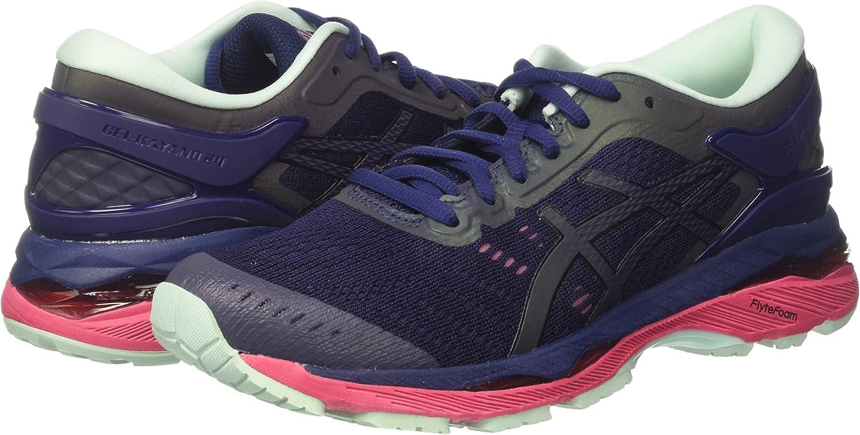 Asics Gel-Kayano 24 Lite-Show, Zapatillas de Running para Mujer, Azul (Indigo Blue/Black/Reflective), 42.5 EU: Amazon.es: Zapatos y complementos