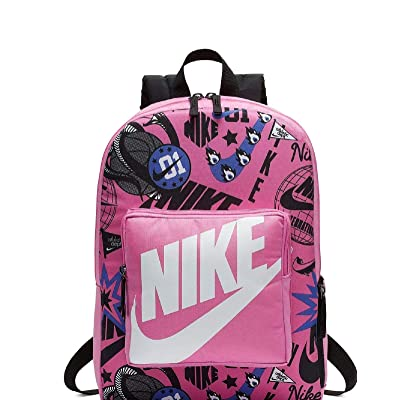 Nike Kids` Classic All Over Print Backpack (One Size, China Rose(BA5995-610)/White): Clothing