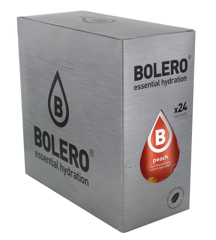 Bolero Bebida Instantánea sin Azúcar, Sabor Melocotón - Paquete de 24 x 9 gr - Total: 216 gr: Amazon.es: Salud y cuidado personal