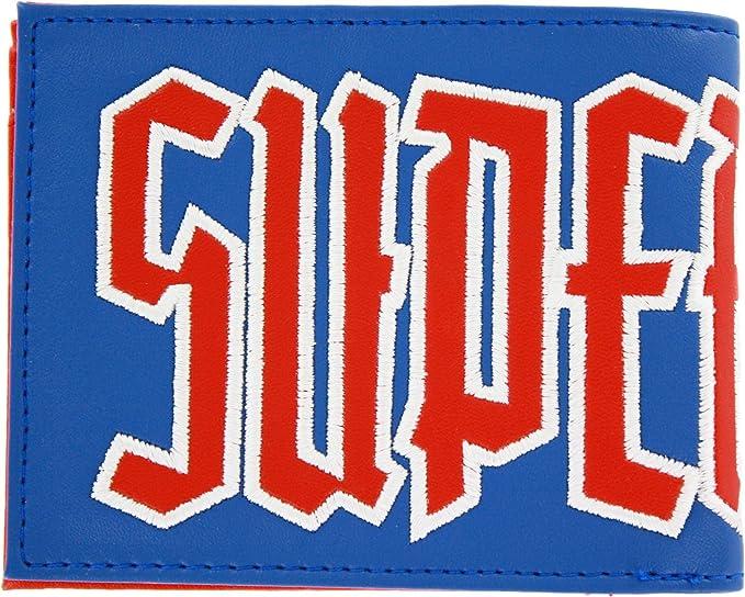 Blue DC Comics Men/'s Superman Bifold Wallet One Size