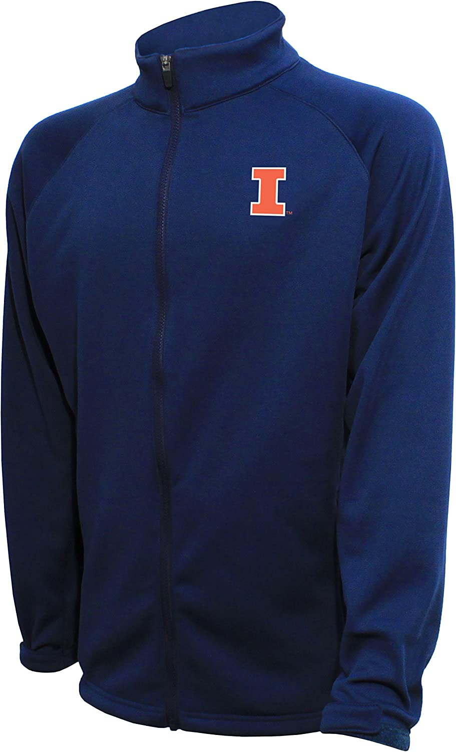 Crable NCAA Mens 1//4 Zip Textured Bonded Jacket