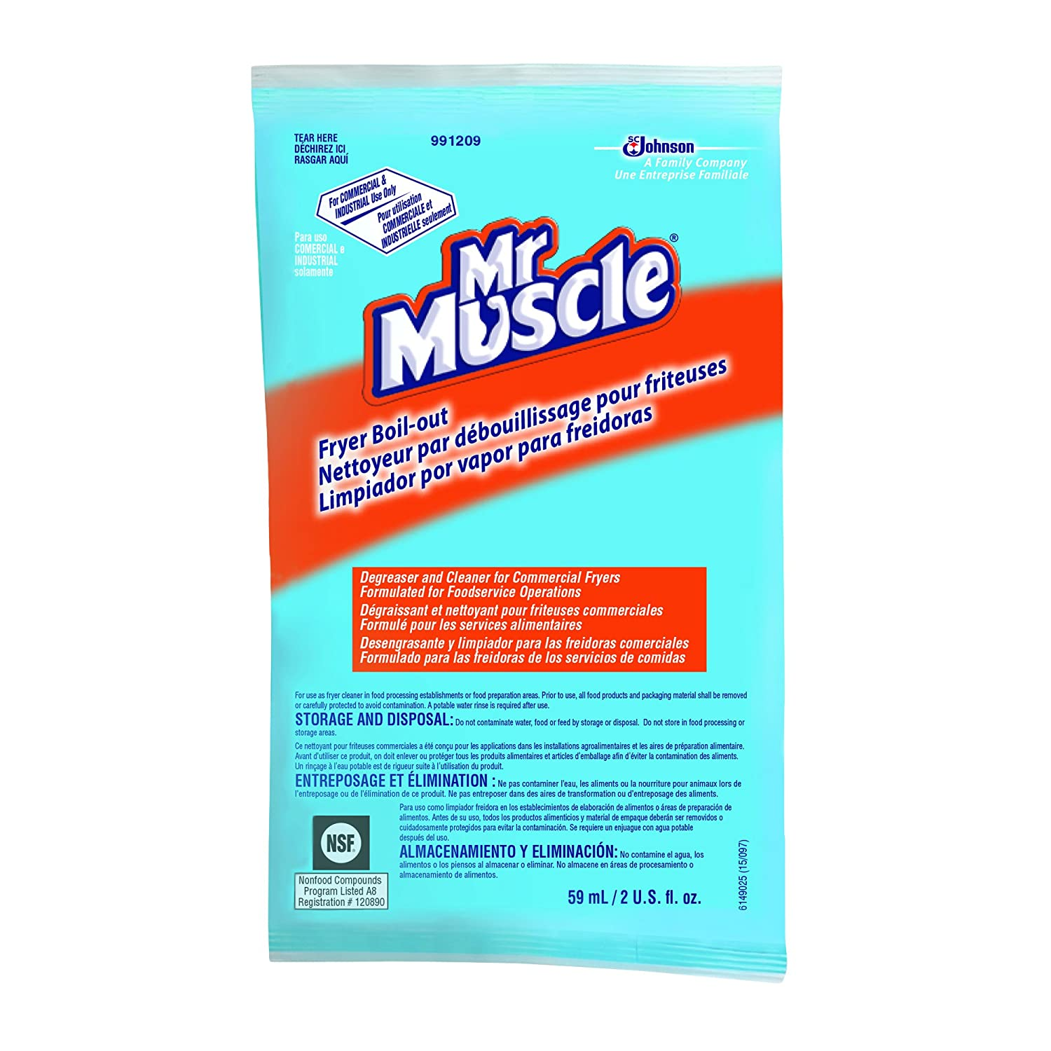 Amazon.com: Diversey Mr. Muscle Boil Out Fryer Cleaner (2-Ounce, Case of 36): Industrial & Scientific