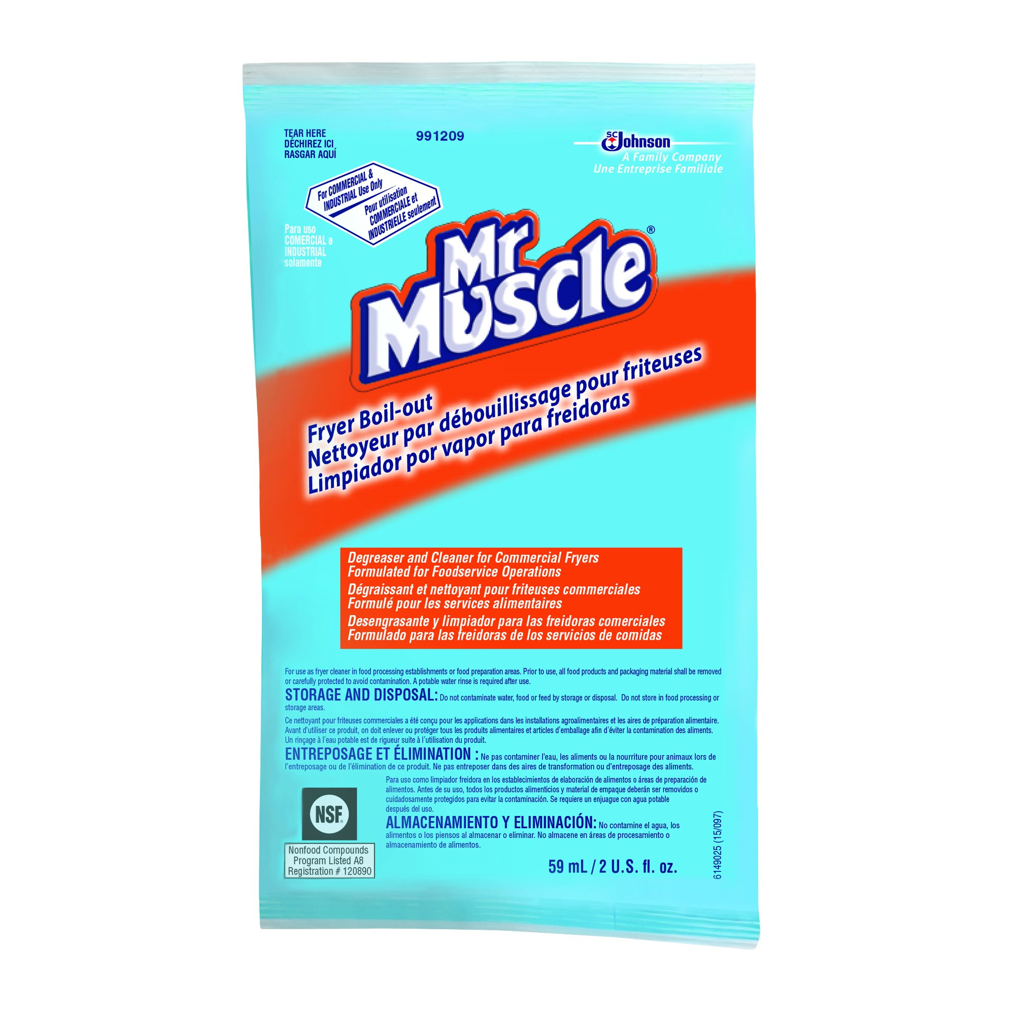 Diversey Mr. Muscle Boil Out Fryer Cleaner (2-Ounce, Case of 36)