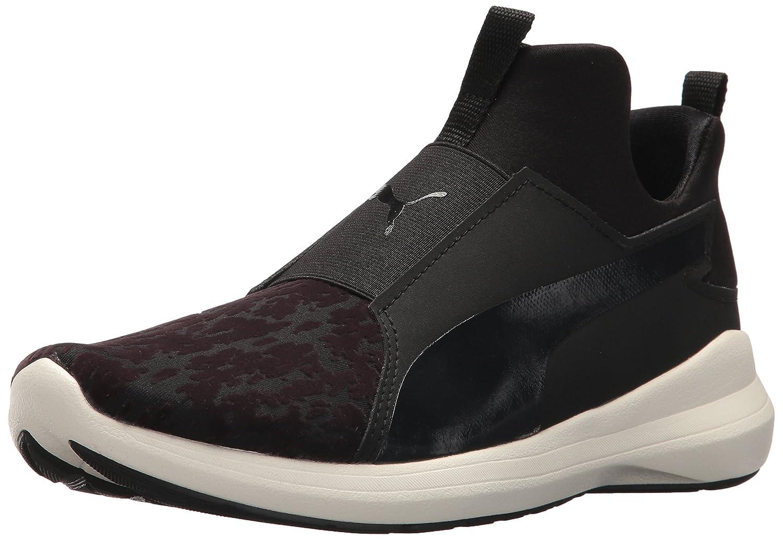 PUMA Women's Rebel Mid WNS VR Sneaker B01N7J3P21 5.5 M US|Puma Black-puma Black