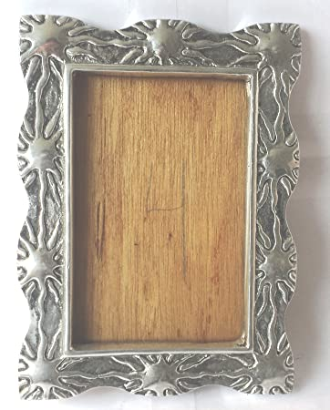 Amazoncom Mexican Pewter Metal Picture Frame Holder 3 X 5 Baby
