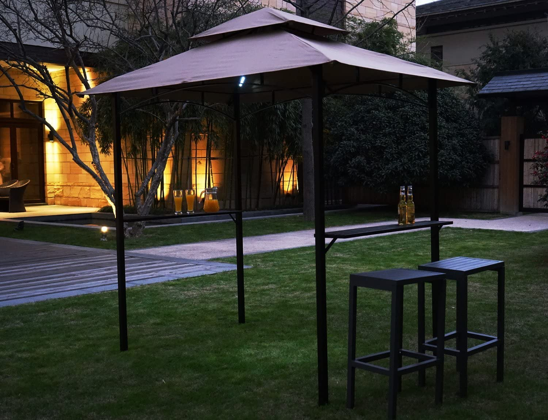 Kozyard Andra - Toldo para Barbacoa de 20 x 12, 7 cm con 4 Luces LED magnéticas Desmontables: Amazon.es: Jardín