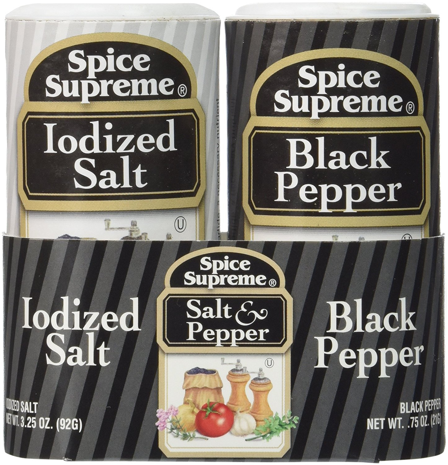 Spice Supreme Salt & Pepper Double Pack(Pack of 3)