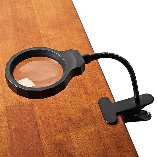 2 opinioni per Fancii Lampada con Lente d'Ingrandimento 8 Diottrie con LED a Effetto Luce