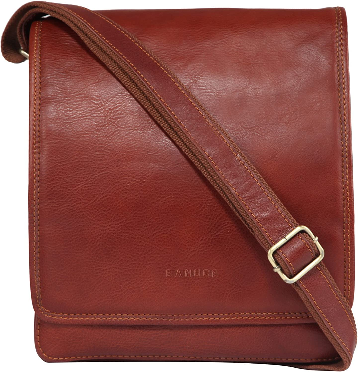 Banuce Small Full Grains Italian Leather Messenger Bag