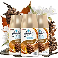 Glade Automatic Spray Refill, Air Freshener for Home and Bathroom, 6.2 Oz, Cashmere Woods, Pack of 3