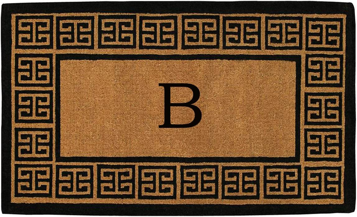 Home More 180091830B The Grecian 18 X 30 Extra-Thick Monogrammed Doormat Letter B