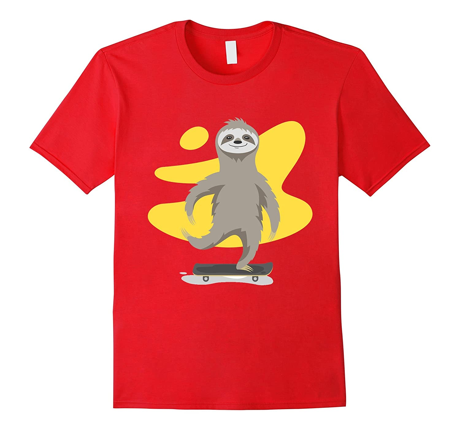 b27efada0 Sloth T-Shirt – Sloth riding on skateboard shirt-4LVS – 4loveshirt