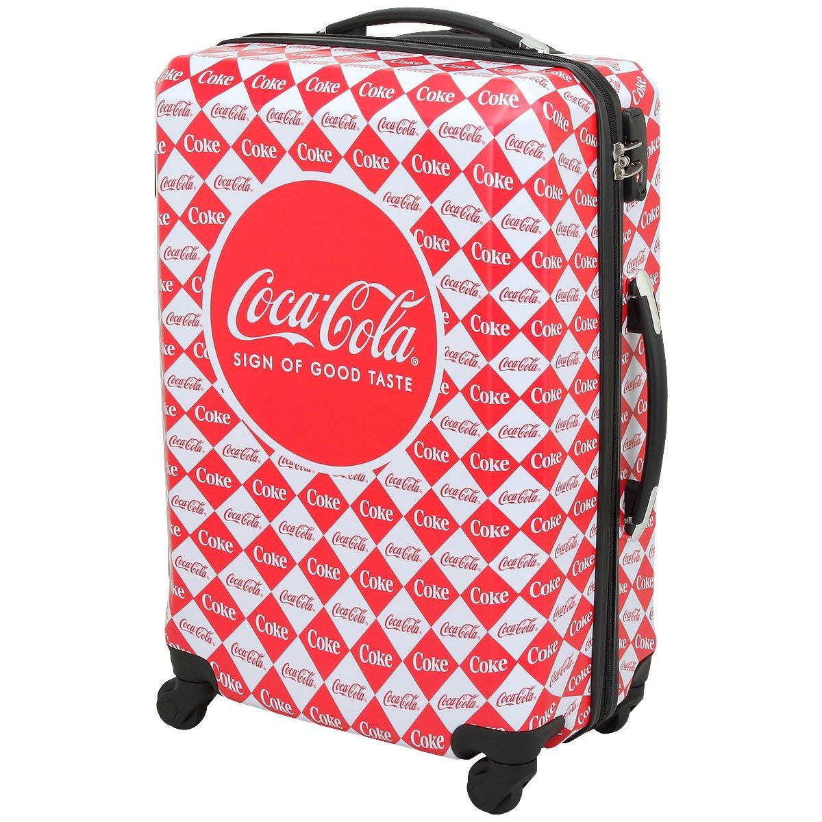 Coca-Cola(コカコーラ) 軽量スーツケース チェック柄 ホワイト×レッド 62L   B077V1VDSG