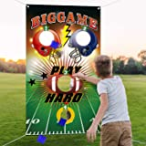 Football Toss Game with 3 Bean Bags, Indoor and Outdoor Football Party Game for Kids Adults Family Football Birthday…