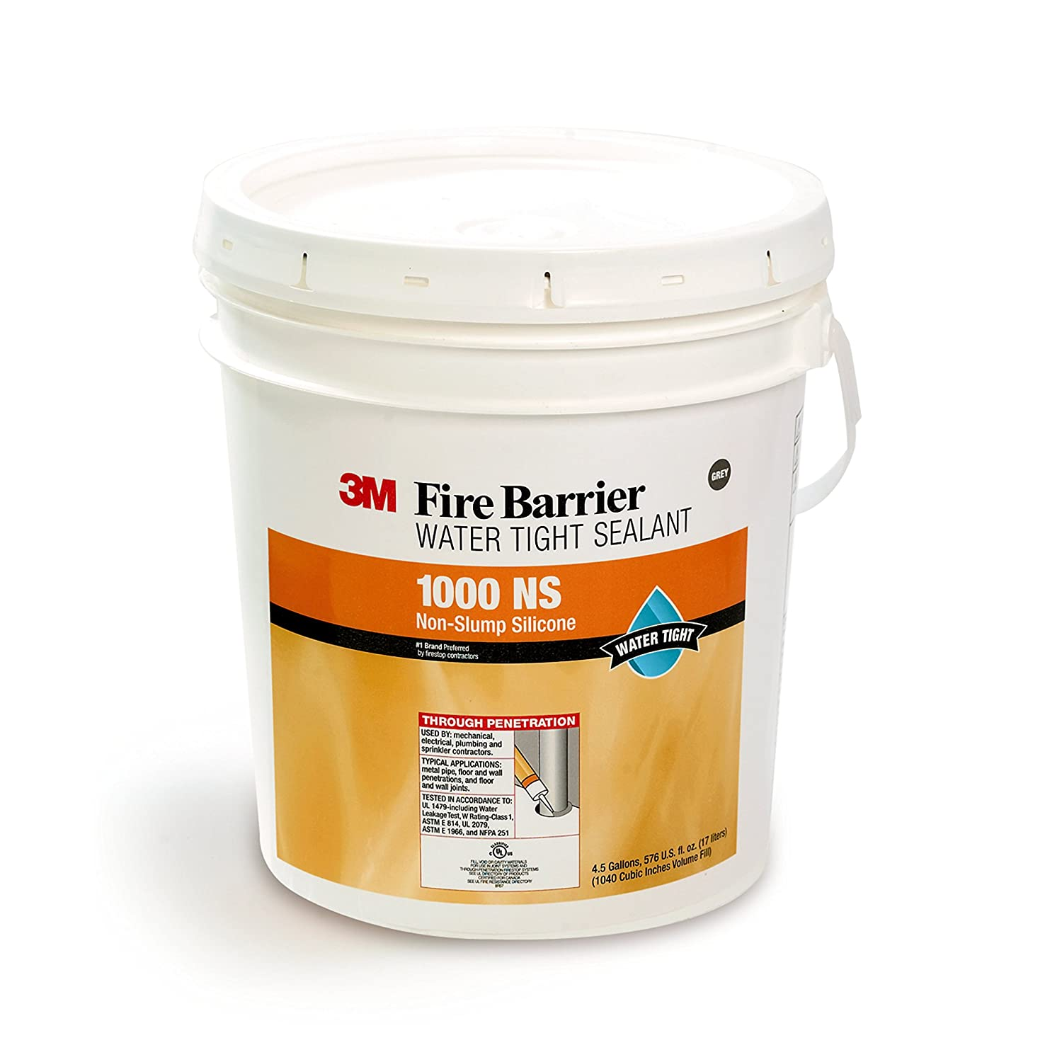 Image of 3M 11537-case Fire Barrier Water Tight Sealant 1000 NS, Pail, 1/case, 4.5 gal Home Improvements