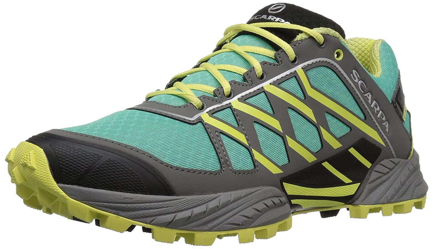SCARPA Women's Neutron Wmn Running Shoe Trail Runner B0126JP66U 40.5 EU/8.6666666666666661 M US|Lagoon/Lemon