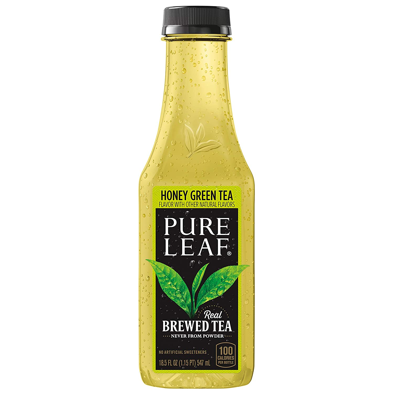 Pure Leaf Iced Tea, Honey Green Tea Bottles, 18.5 Fl Oz (Pack of 12)