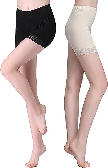 Vinconie Leggings Corti Donna Pizzo Pantaloncini Sottogonna Culotte Shorts Boxer