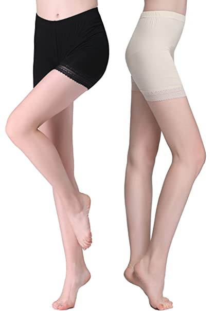f30a3363af0f Vinconie Shorts for Under Dresses Solid Knee Length Short Spandex Yoga  Leggings