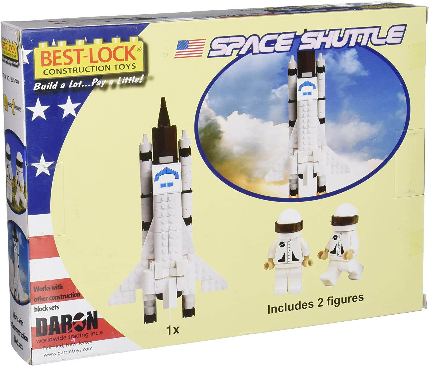 Amazon Com Space Shuttle 140 Piece Best Lock Construction Toy With Action Figure Toys Games