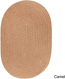 product image for Rhody Rug Madeira Indoor/Outdoor Braided Rug Camel 10' x 13' Oval Synthetic, Polypropylene Antimicrobial, Stain Resistant 10' x 14' Outdoor, Indoor