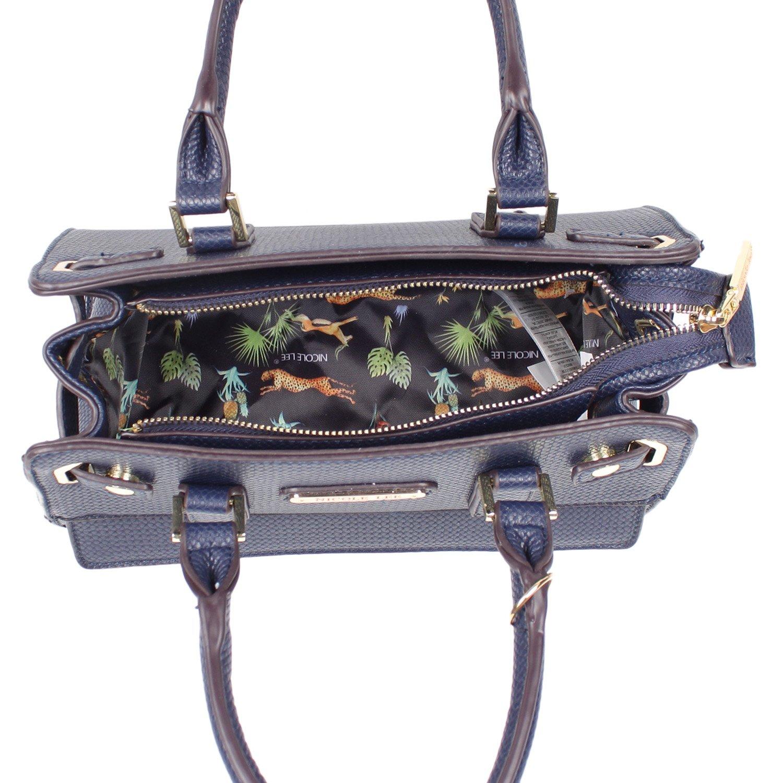 Amazon.com  Nicole Lee Women s Ciel Medium Satchel Smart Lunch Bag (Blue) Travel  Shoulder, One Size  Clothing c376a8bd11