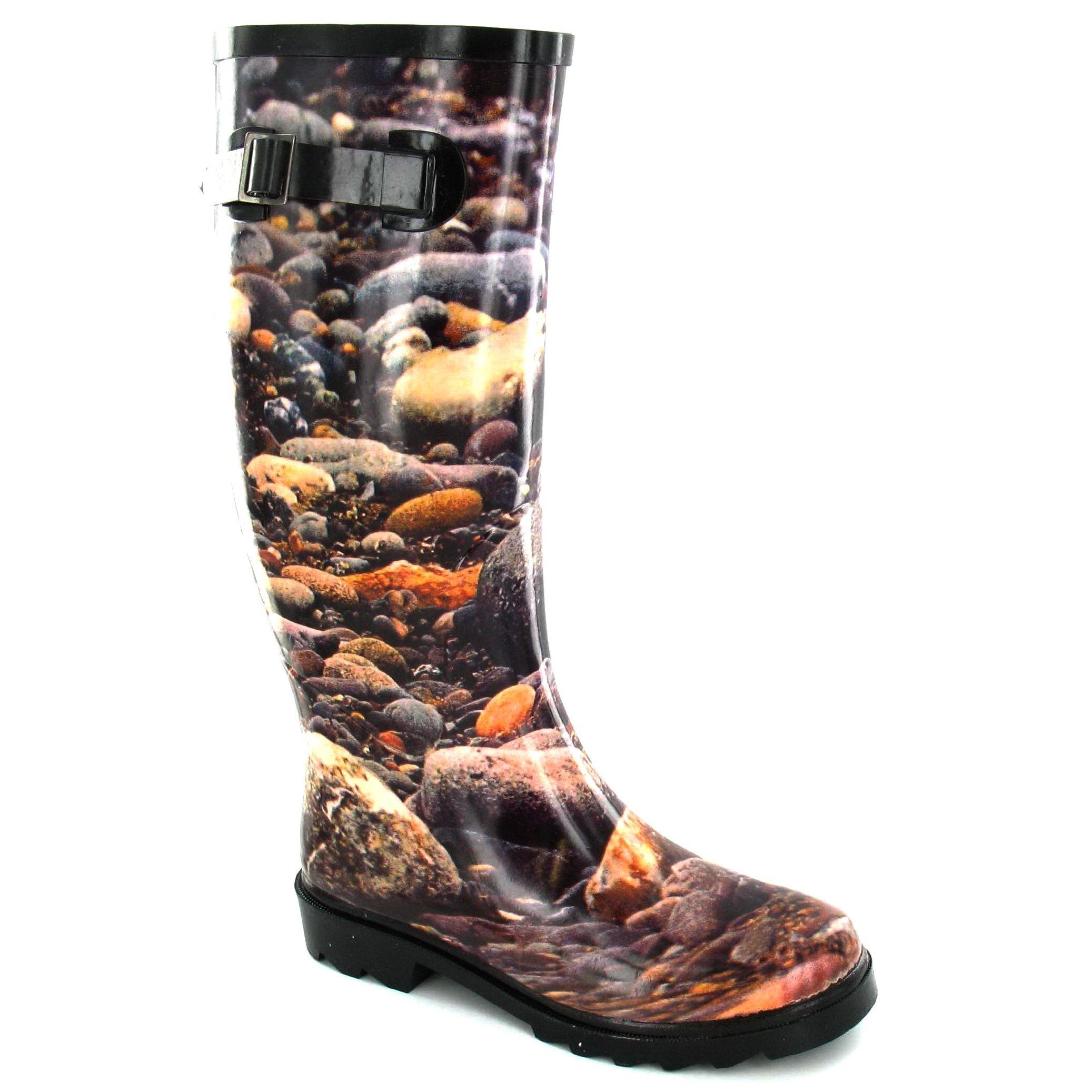Spot On Mens Pebble Print Wellington Boots (9 US) (Black) by Spot On