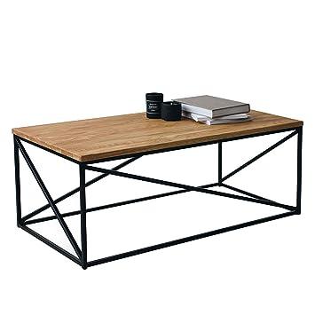 Das Original Bestloft Couchtisch Orlando 110 Sh Eiche Metall Beistelltisch Industiedesign Loft 110x55x43 Vintage Sofatisch Massiv Holz Eiche