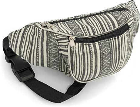 Black and White Stripe Bum Bag Fanny Pack Festivals Holiday Wear ...
