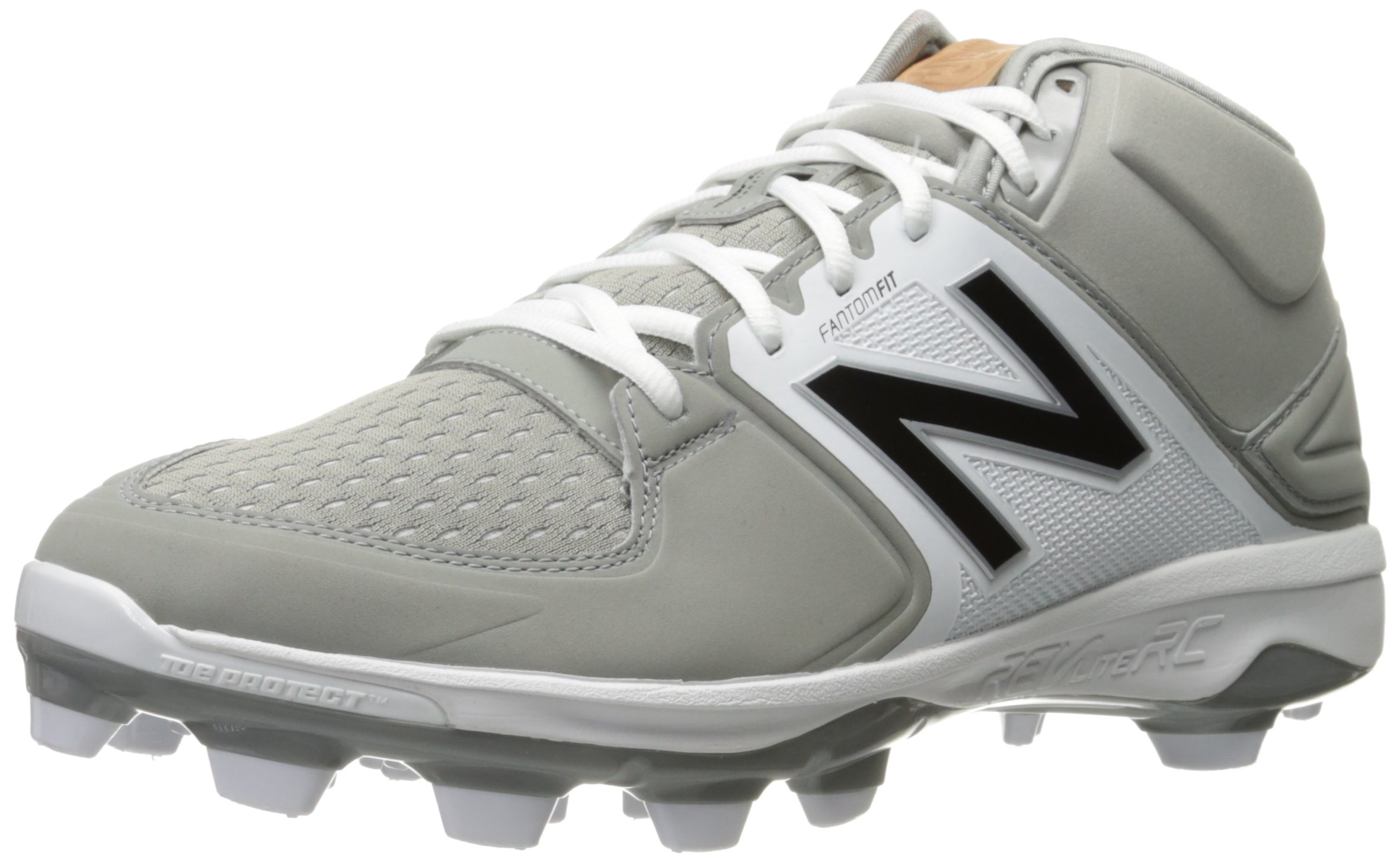 New Balance Men's PM3000v3 Molded Baseball Shoe, Grey/White, 10 2E US by New Balance