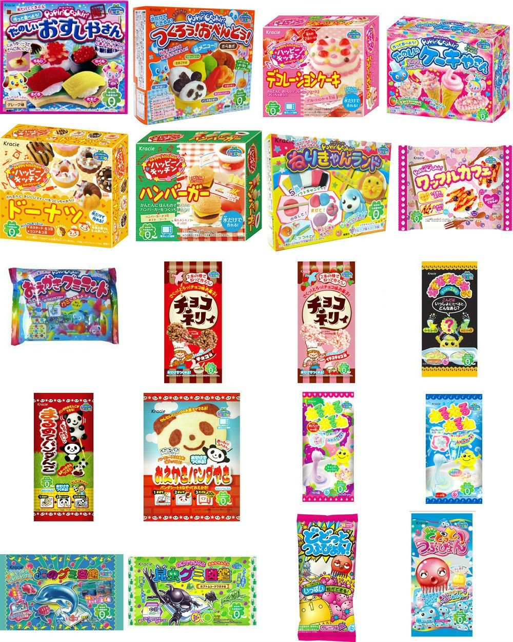 Popin cookin amazon - Amazon Com Kracie Popin Cookin 20 Item Bundle With Sushi Hamburger Bento Donuts Cake Shop And More Gummy Candy Grocery Gourmet Food