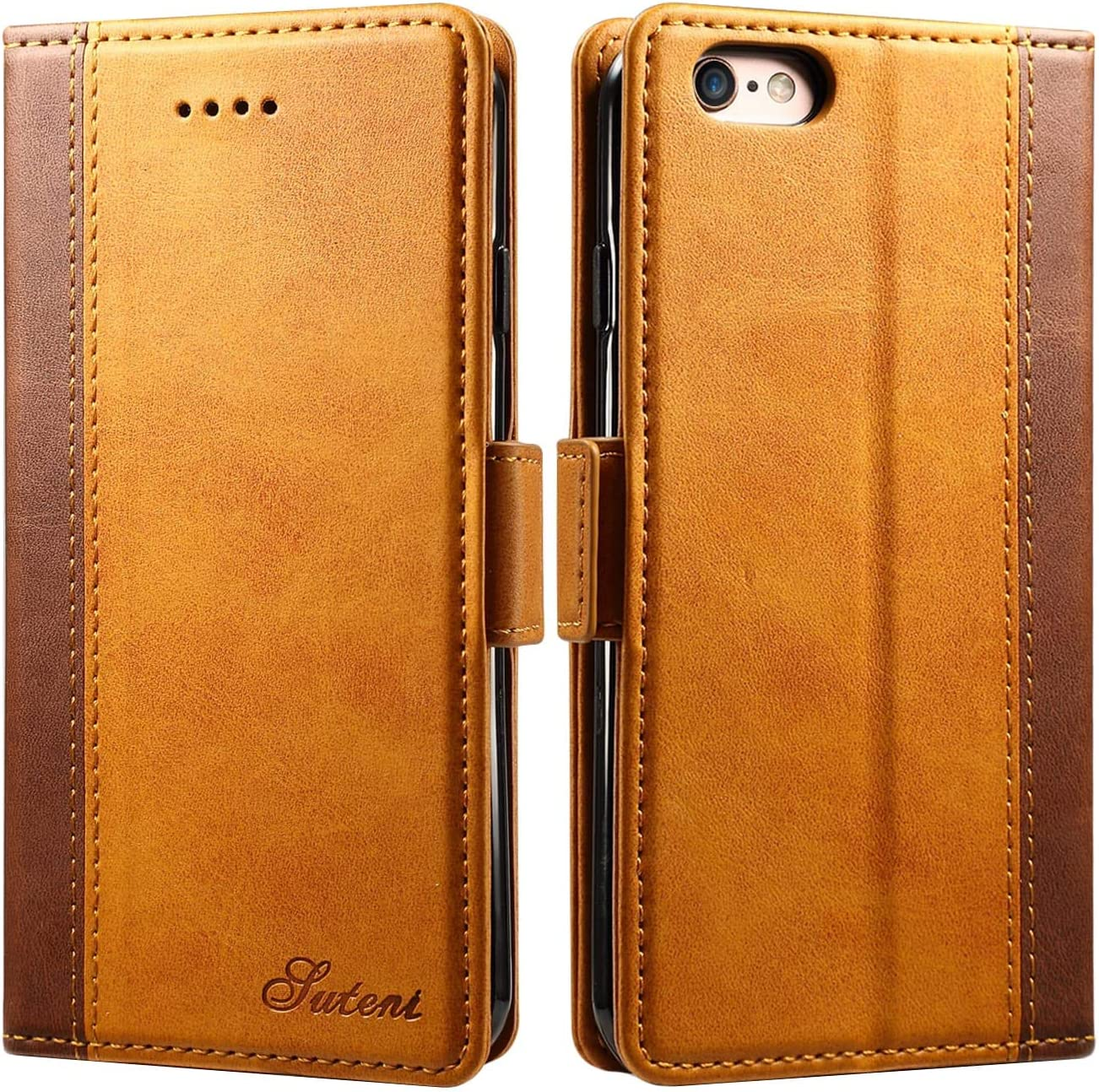 iPhone 6 / 6s Wallet Case, SINIANL Leather Magnetic Closure Folio Flip Cover Card Slots Holder with Kickstand TPU Shockproof Case