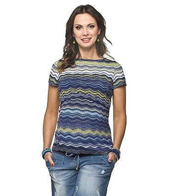 Torelle Umstandsmode 2in1 Stillshirt, Umstandsshirt, Modell: Gaja, Kurzarm,  Blau-Grün