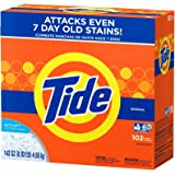 Tide Powder Laundry Detergent Original 102 Loads, 143 Ounce