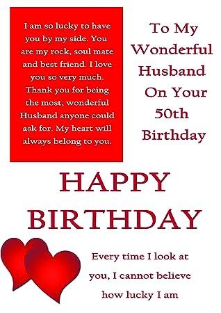Ehemann 50 Geburtstag Karte Mit Abnehmbarer Laminat Amazon De