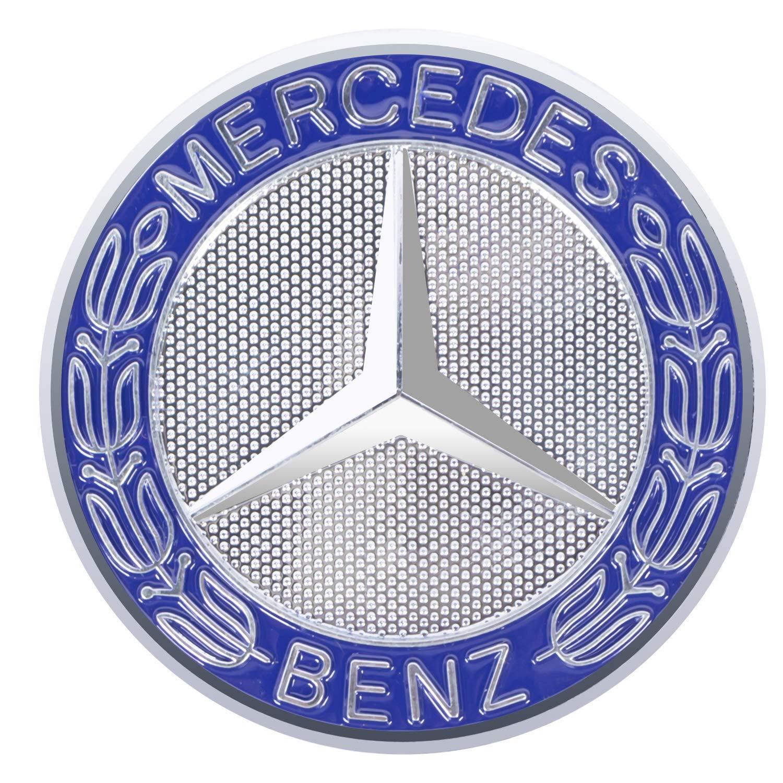 TOYOY Insignia del logotipo del cap/ó del motor del emblema del cap/ó del coche de 57 mm para la clase C//E//S//CLS