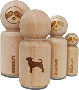 Smooth Coat Chihuahua Apple Head Dog Solid Rubber Stamp for Stamping Crafting Planners - 1/2 Inch Mini
